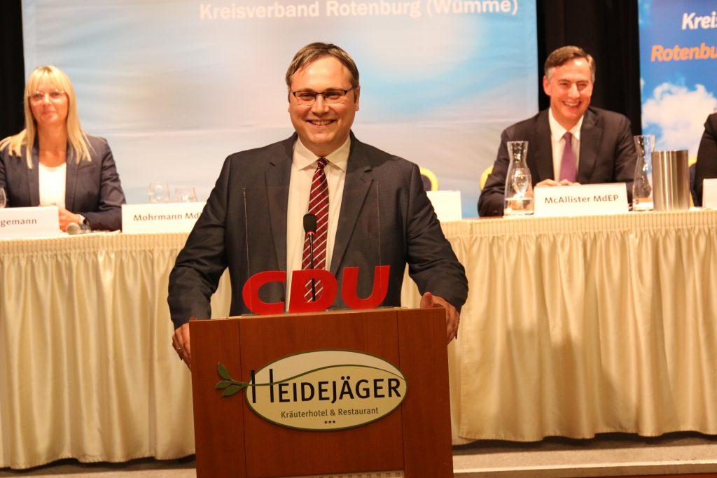 99 % der CDU-Mitglieder stimmten am 11. September 2020 für Marco Prietz als Landratskandidaten.